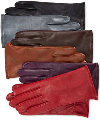Charter Club Cashmere Lined Leather Tech Gloves, Only at Macy's $88.50 thestylecure.com