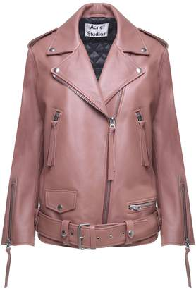 Acne Studios New Myrtle Oversized Leather Biker Jacket