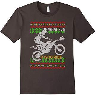 Ugly Christmas Dirt Bike T-Shirt
