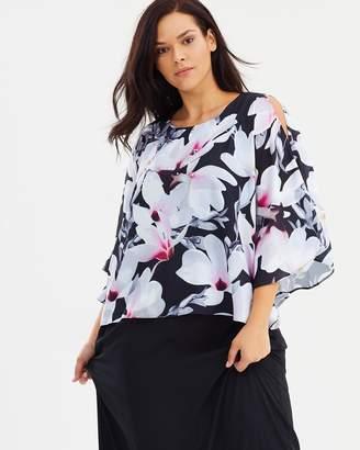 Evans Floral Print Maxi Dress
