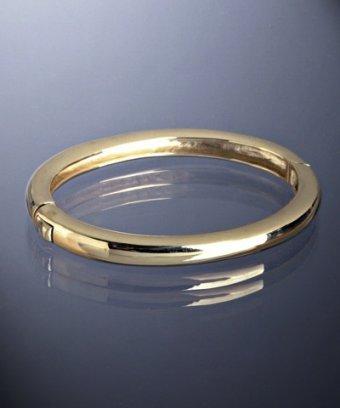 Jardin gold plated plain hinge bangle