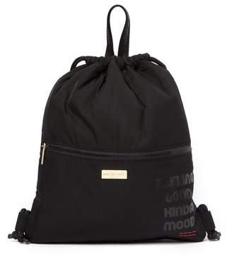 Peace Love World Nylon Drawstring Backpack