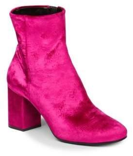 Balenciaga Velvet Block Heel Booties