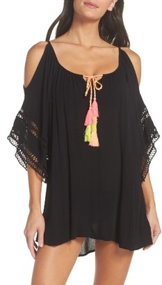 Women's Surf Gypsy Cold Shoulder Cover-Up Tunic $58 thestylecure.com