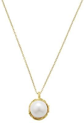 Burlington London Road Willow Single Pearl Pendant Necklace, Gold