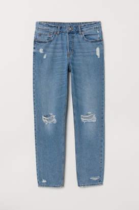 H&M Petite Fit Boyfriend Low Jeans - Blue