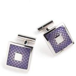 Black & Brown Black Brown Purple Cufflinks