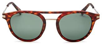 Polaroid Polarized Brow Bar Round Sunglasses, 50mm