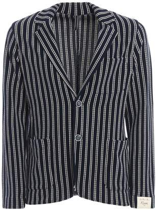 dae108599b2 Luigi Bianchi Mantova Knitted Striped Jersey Blazer
