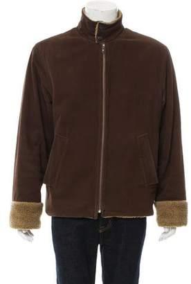 Dolce & Gabbana Sherpa Lined Zip-Up Jacket