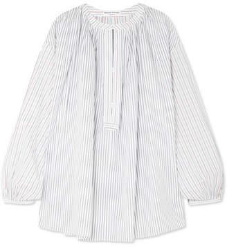 Sonia Rykiel Striped Cotton-poplin Blouse - White