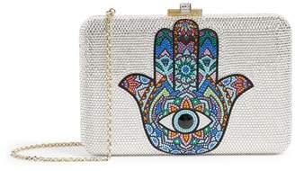 Judith Leiber Crystal Hamsa Hand Clutch Bag