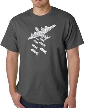 Pop Culture Los Angeles Pop Art Big Men's T-Shirt - Drop Beats Not Bombs