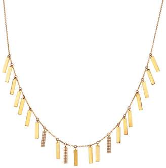 Lee Jones Collection Diamond Candy Bar Necklace - Yellow Gold