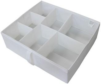 Mainstays 7-Section Drawer Organizer, Black, Set of 2