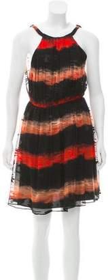 Alice + Olivia Embellished Chiffon Dress