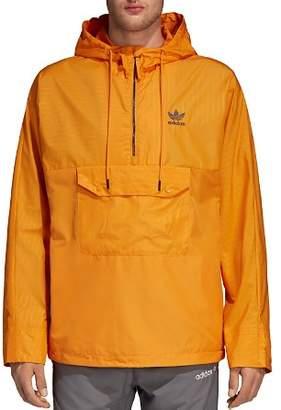 adidas Pinstripe Pullover Windbreaker Jacket
