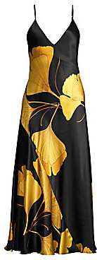 Natori Women's Josie Gingko Floral Silk Nightgown
