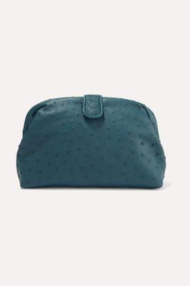 Bottega Veneta Lauren 1980 Intrecciato Ostrich Clutch - Blue