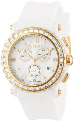 Akribos XXIV Women's 'Swiss Quartz Chronograph Ceramic and Silicone Casual Watch