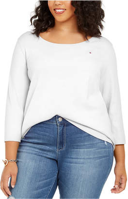 Tommy Hilfiger Plus Size 3/4-Sleeve T-Shirt