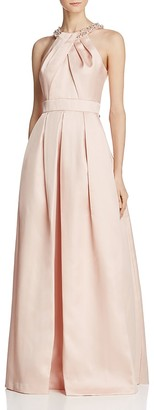 Eliza J Jeweled-Neck Pleated Gown $248 thestylecure.com