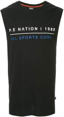 P.E Nation Cage logo tank top