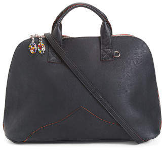 Made In Italy Dome Leather Satchel