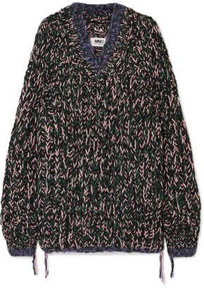MM6 MAISON MARGIELA Oversized Wool-blend Sweater - Black