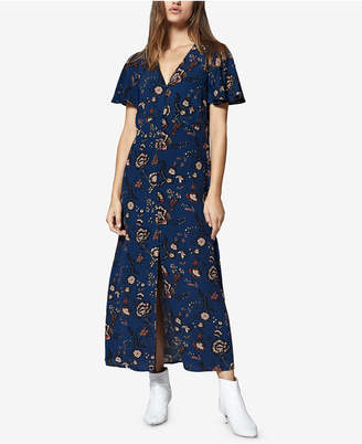 Sanctuary Printed Button-Front Maxi Dress