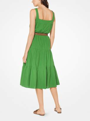 MICHAEL Michael Kors Tiered Eyelet Cotton Dress