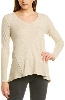 Michael Stars Ribbed Paneled Sweater