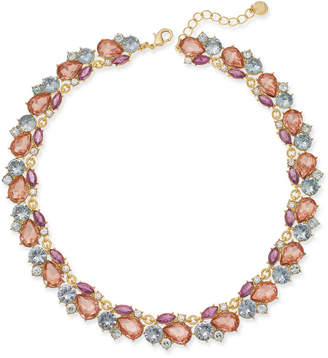 """Charter Club Gold-Tone Multi-Stone Cluster Collar Necklace, 17"""" + 2"""" extender, Created for Macy's"""