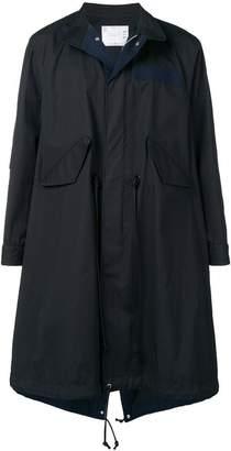 Sacai drawstring waist trench coat
