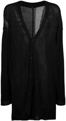 Yohji Yamamoto rib pattern cardigan