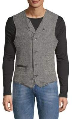 Collared Zip and Button Vest