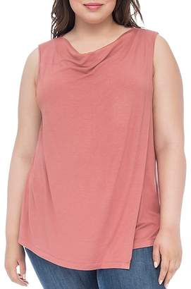 Bobeau B Collection by Curvy Nevaeh Cowl Overlay Tank