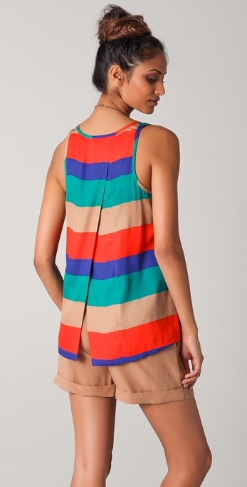 Bb Dakota Auburn Striped Tank