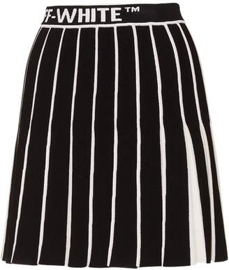 Off-White Off White Contrasting Pleated Skirt