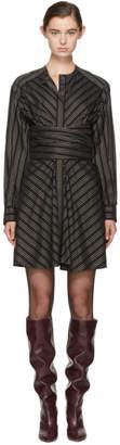 Isabel Marant Black Striped Victoria Dress