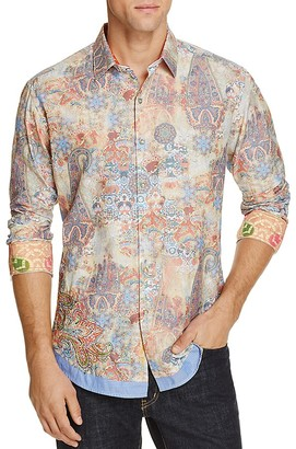 Robert Graham Limited Edition Paisley Print Classic Fit Button-Down Shirt $398 thestylecure.com
