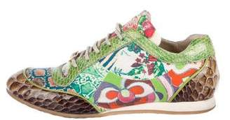 Just Cavalli Printed Round-Toe Sneakers
