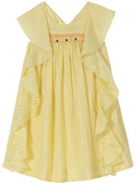 Sale - Amber Lurex Striped Dress - Velveteen