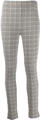 Patrizia Pepe skinny fit checked trousers