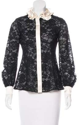 Marc Jacobs Lace Button-Up Top