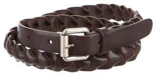 Rene Lezard Woven Leather Waist Belt