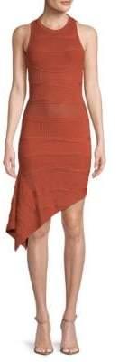 Ronny Kobo Alzata Sleeveless Asymmetric Dress
