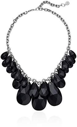 """Michael Kors Fashion"""" Crystal -Tone and Black Crystal Statement Collar Pendant Necklace"""