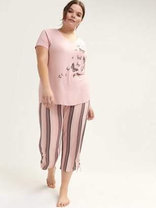 Straight Leg Pajama Capris - Deesse Collection 58bd942d4