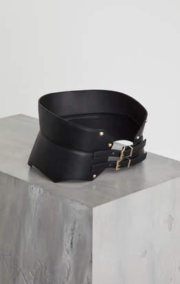 BCBGMAXAZRIA Faux Leather Contour Belt